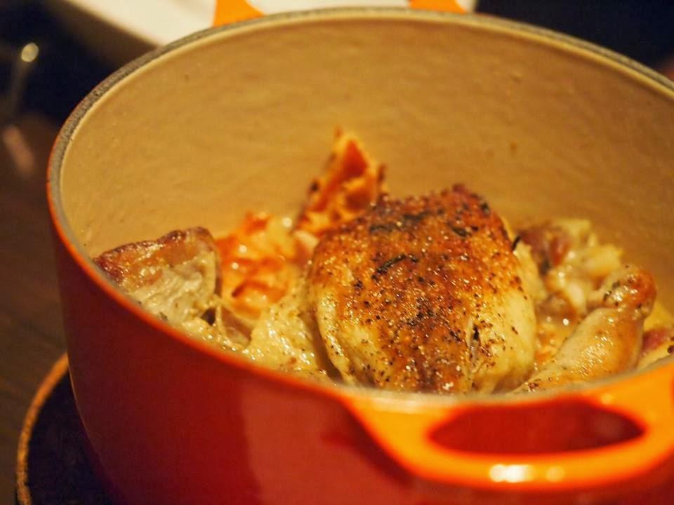 ルクルーゼ鍋のカスレ ~ソーセージ・鴨もも肉・豚スペアリブ・トリッパ+ほっこり白いんげん豆~