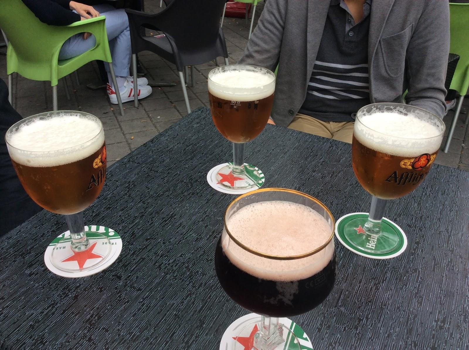 ベルギーが近いのでビールで乾杯!