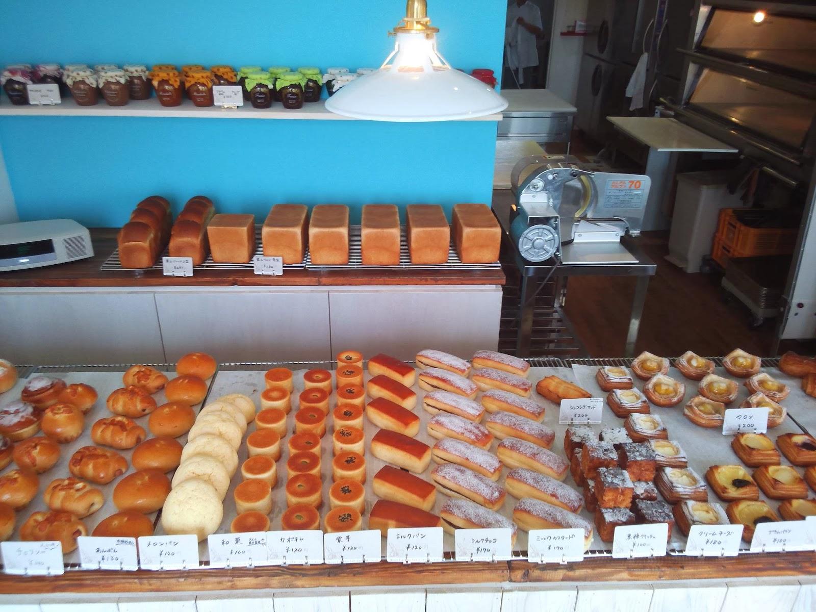 店内には40~50種類のパンが・・・・