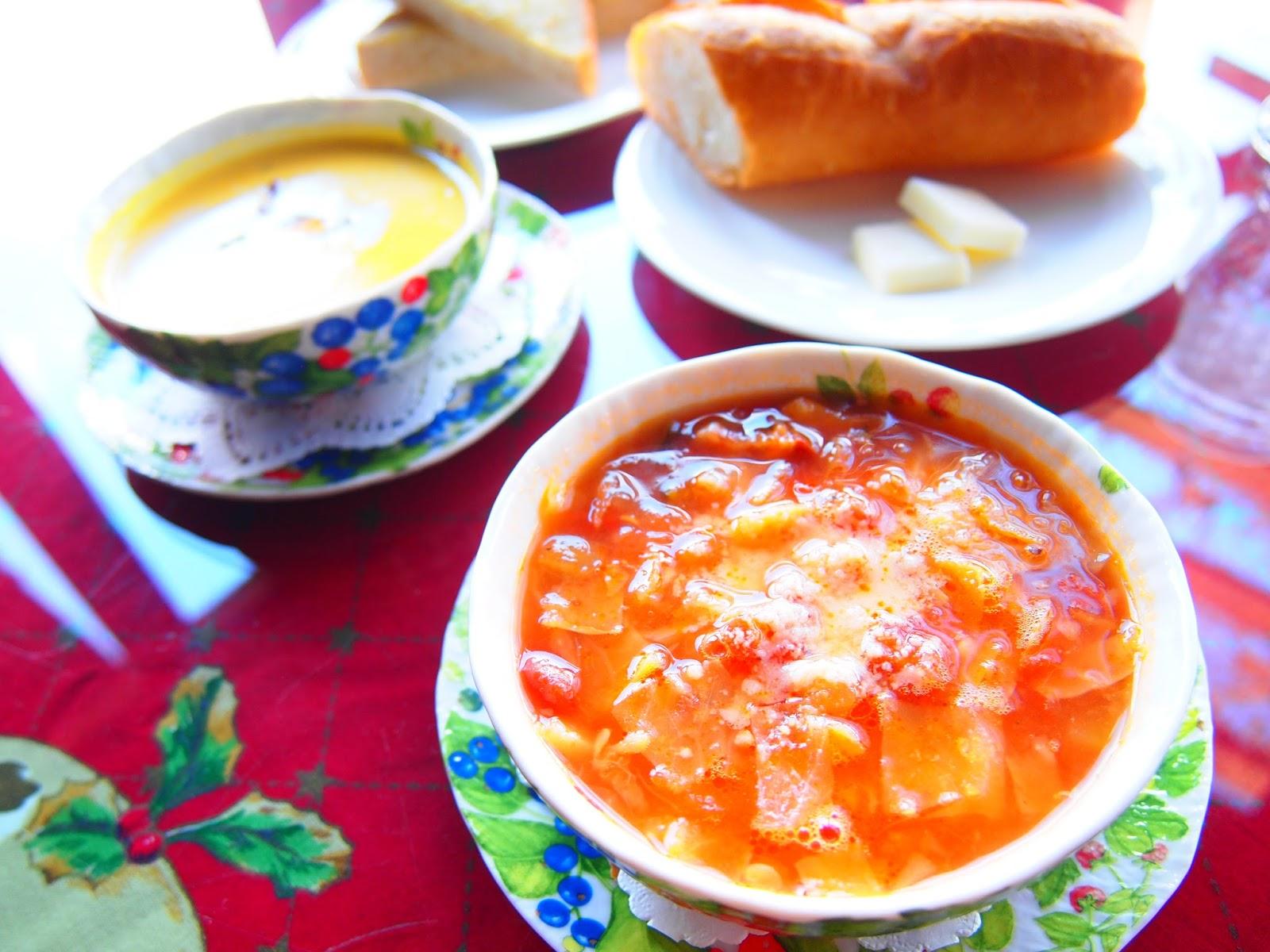 このスープだけでもお腹がいっぱいになってしまうほどのボリューム