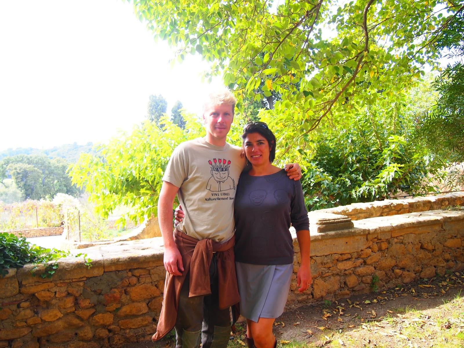 フランスで自転車をしていた奥様KarinaとGuillaume